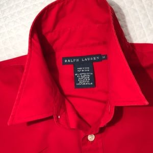 RL Red Button down
